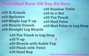 150 Rep Ab Burner