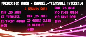 Barbell+Treadmill Intervals
