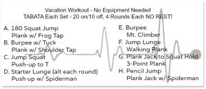No equipment, Vacation Workout