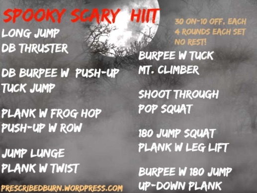 Spooky Scary HIIT