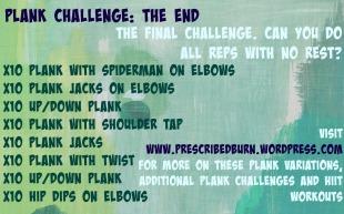 Final Plank Challenge