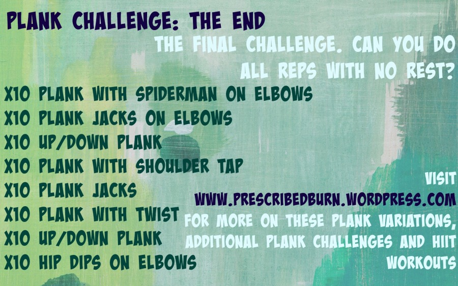 Final Plank Challenge