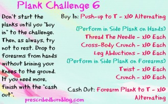 Plank Challenge 6