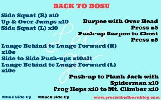 Back to Bosu