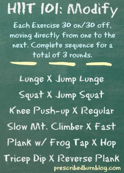 HIIT 101 Modify