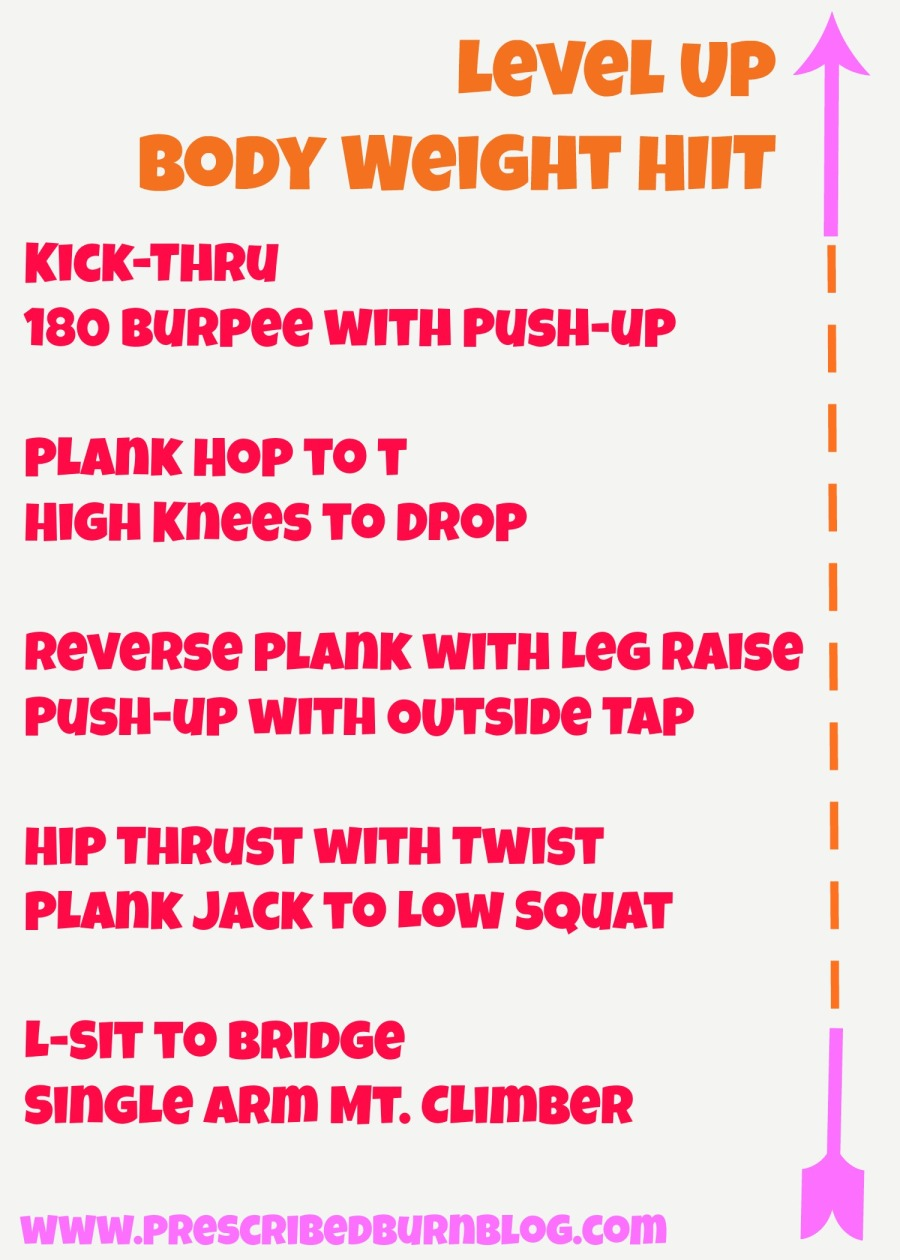 Level Up Body Weight HIIT