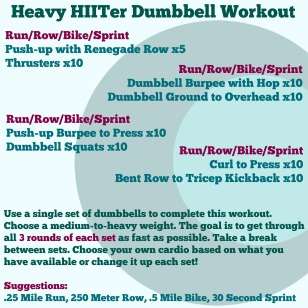 Heavy HIITer Dumbbell Workout