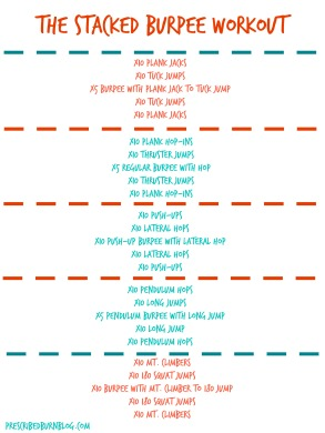 Stacked Burpee Workout