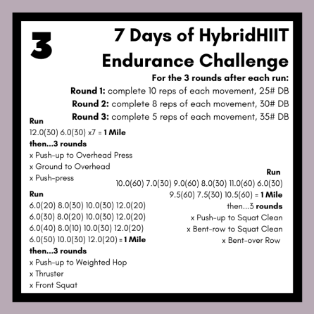 7 Days of Hybrid HIIT